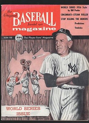 October 1956 Baseball Magazine with World Series cover
