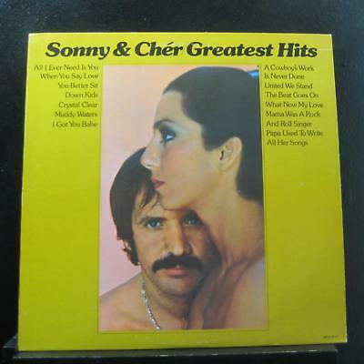 Sonny & Cher - Greatest Hits LP Mint- MCA-2117 USA 1974 Vinyl Record
