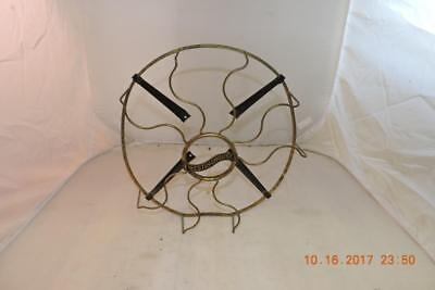 "Antique Westinghouse Cast Iron 12"" Electric Fan Brass Cage Only"