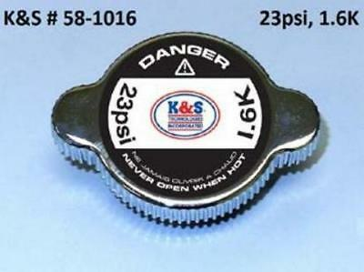 K&S High Pressure Racing Radiator Cap 23 PSI Chrome