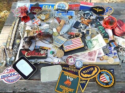 Vintage Pocket Knife Motorcycle Ring Jewelry Zippo Lighter Coin Key Football Lot