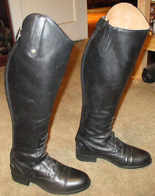 Wmns ARIAT Heritage Contour Field Zip Leather Equestrian Boots sz 5.5 B