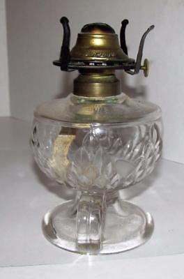 Antique EAPG Fostoria Artichoke Oil Lamp Cir 1890's Macbeth Nu-Type Burner
