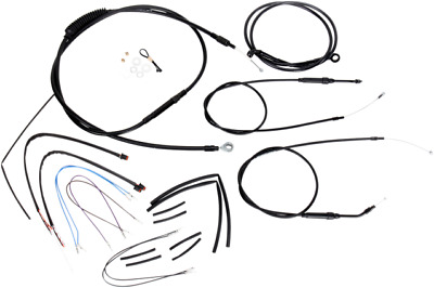 "Burly Brand Extended Cable/Brake Line Kit for 12"" Ape Hanger Handlebar  B30-1067"