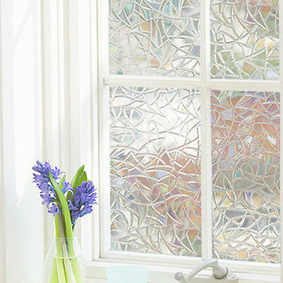 Hot Bathroom PVC DIY Sticker 3D Frosted Stained Glass Privacy Window Film Cover