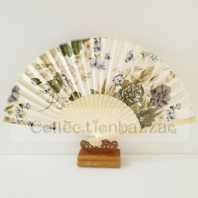 Chinese Bamboo Folding Silk Floral HAND FAN for Wedding Party Gift C