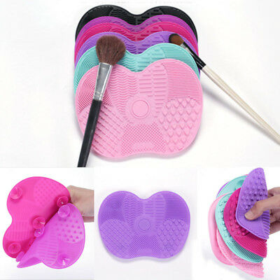 Silicone Makeup Brush CleanerPad Washing Scrubber Board Cleaning Mat Hand Tool J