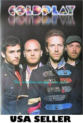 Coldplay vivid lettering standing POSTER 14.5 x 21 Chris Martin & sent from USA