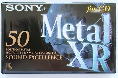 Sony Metal Xr 50 Metal Position Type Iv Blank Audio Cassette - 1995