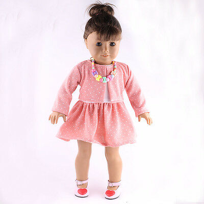 sweater Autumn clothes set for 18inch American girl doll party best gift b794