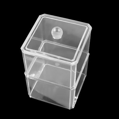 Clear Acrylic 2 Layers Makeup Storage Box Cosmetic Holder Case Jewelry Organizer