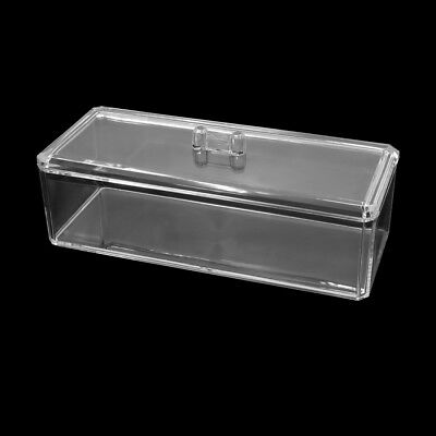 Clear Acrylic Rectangle Makeup Storage Box Cosmetic Holder Jewelry Organizer