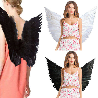 Adult Party Hen Halloween Large Angel Wings Fairy Feather Fancy Dress Costume UK
