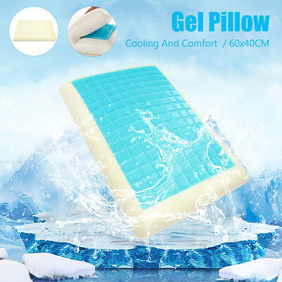 High Density Memory Foam Pillow Contour Cool Gel Home Hotel Top Cover 60x40CM AU