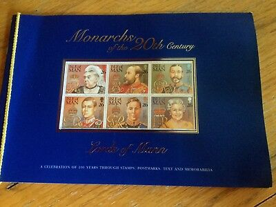 Commemorative Book Of Isle Of Man Stamps