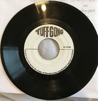 BOB MARLEY & WAILERS Road Block Rebel Music TUFF GONG JA BLANK VINYL SINGLE EX