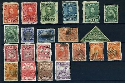 Newfoundland (Canada) small selection of early used stamps