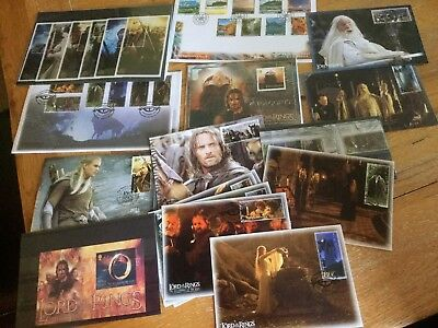 Commemorative Set Of Lord Of The Rings Mint Stamps And Postcards
