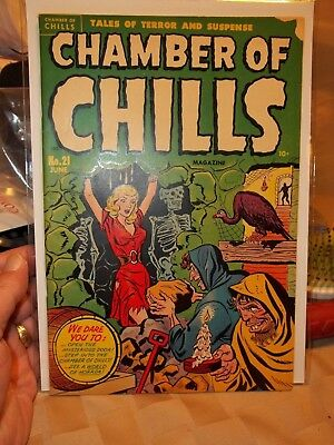 Chamber Of Chills 21 (1) Pre-Code Horror Harvey / Witches Tales 1951 Beautiful