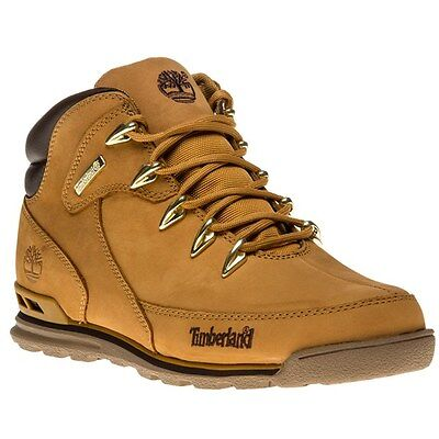 New Mens Timberland Tan Euro Rock Hiker Nubuck Boots Lace Up