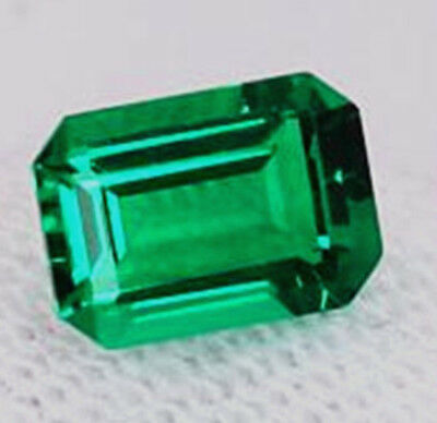 Natural Mined 4.08ct Green Emerald Colombia 9x11mm Emerald Cut AAA Gemstone