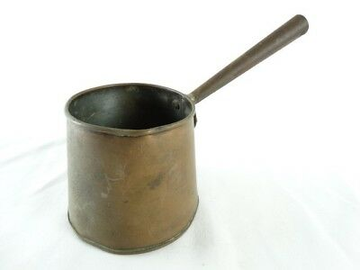 Antique French Copper Sauce pot with Hand Forged Iron HandleFrance