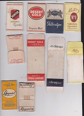 Selection Of Vintage Cigarette Packets  Sleeves/hulls/fronts