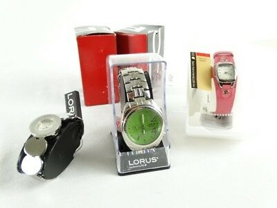 3 new with tags LORUS by Seiko Wrist Watches Womens & Mens inc crystals