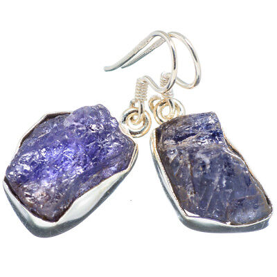 "Tanzanite 925 Sterling Silver Earrings 1 1/4"" Ana Co Jewelry E349704F"