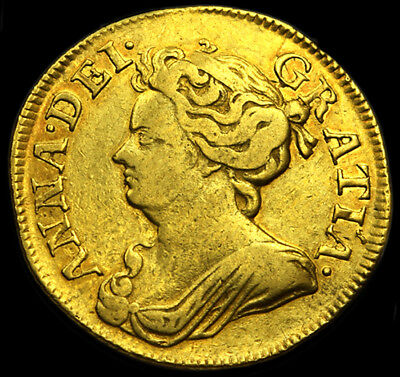 Rare Queen Anne 1714 Gold Guinea