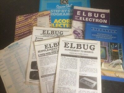Acorn Electron Mag , Book and Sheets