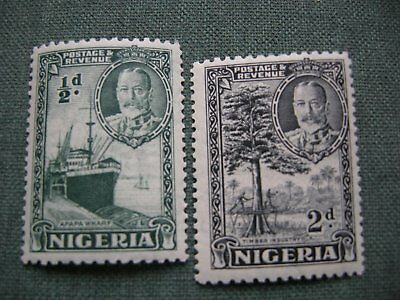 Nigeria 2 stamps KGV 1935/6 old head MNH