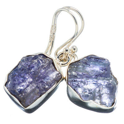 "Tanzanite 925 Sterling Silver Earrings 1 1/4"" Ana Co Jewelry E349653F"
