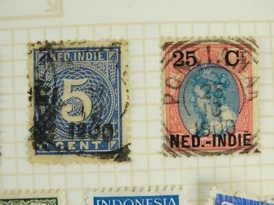 Bulk lot of Indonesian Antique Postage Stamps Philately - Indonesia