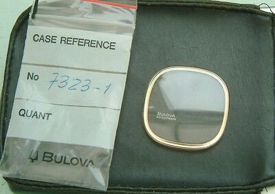 Bulova Accutron 7323-1  Spaceview Crystal Glass GENUINE guaranteed New parts