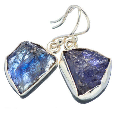 "Tanzanite 925 Sterling Silver Earrings 1 1/4"" Ana Co Jewelry E349348F"