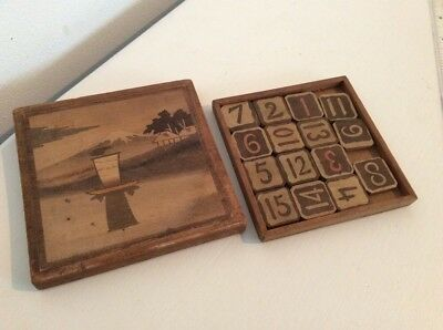 wooden game Mount Fuji Number Puzzle Marquertry  Lid