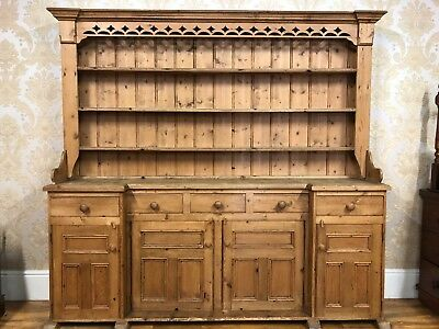 Great Solid Pine Antique Victorian & Later oversized extra large dresser