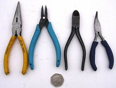 4x Engineers Electronic Electricians Electrical Pliers Garage Workshop DIY Lathe
