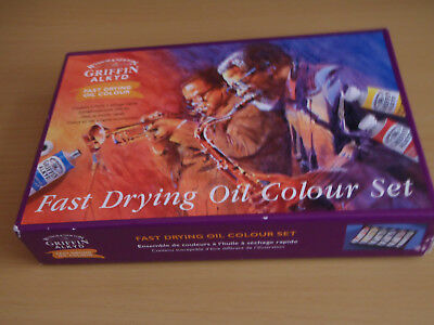 Winsor & Newton Fast Drying Oil Set, Two Palette Knives & Two Metal Turps Tubs