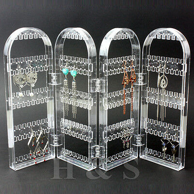Screen Stud Earring Jewellery Display Stand Unit Holder Storage Organiser Box -B