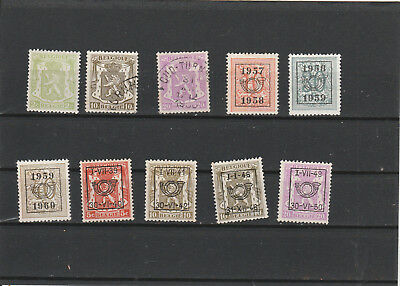 Belgium old canceled and unused Postage stamps Mix Lot Am 2140