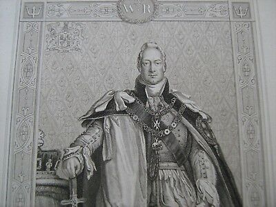 ENGRAVED PORTRAIT OF WILLIAM IV, by Blackie and Sons, about 1880