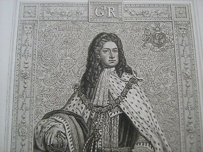 ENGRAVED PORTRAIT OF GEORGE I, by Blackie and Sons, about 1880