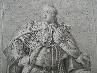 ENGRAVED PORTRAIT OF GEORGE III, by Blackie and Sons, about 1880
