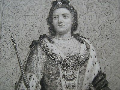 ENGRAVED PORTRAIT OF ANNE, by Blackie and Sons, about 1880