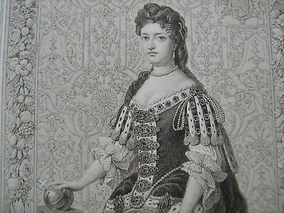 ENGRAVED PORTRAIT OF MARY II, by Blackie and Sons, about 1880