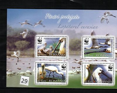 Wu Rumania - Mnh - Wwf - Birds - Nature
