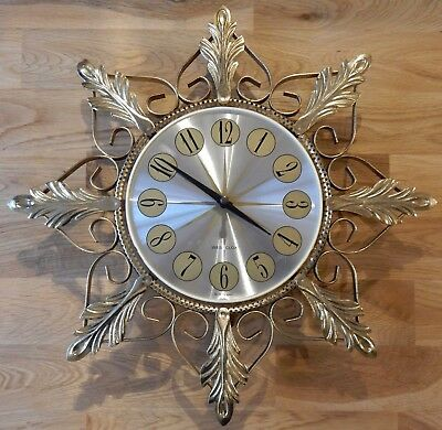 Rare - Antique Westclox Mechanical Wall Clock With Pull Cord