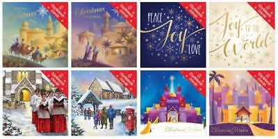 89p! BOX OF 8 SQUARE ADULT CHRISTMAS CARDS x12 SETS. GREAT VALUE EXCELLENT (8645